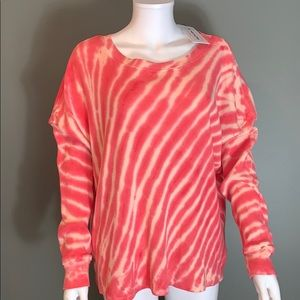 For the Republic Womans Pink Tye-Dye Top SZ.L